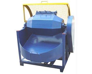 1.-Olive-shape-rotary-barrel-tumbling-machine