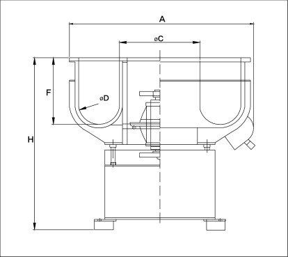 Vibratory Finisher VB(B) Drawing