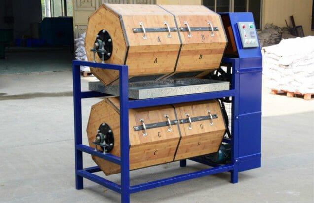 dry-tumbling-wood-barrel-rotary-polisher