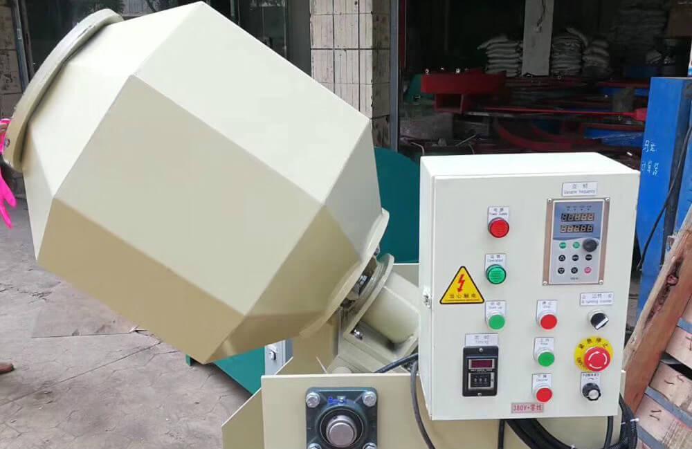 Rotary-Tilt-Barrel-tumbling-Machine