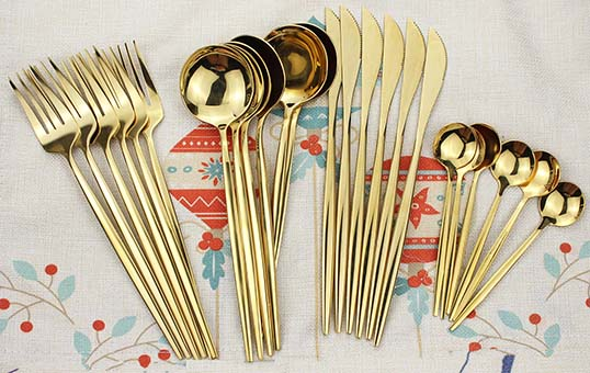 gold-plating-cutlery-for-wedding