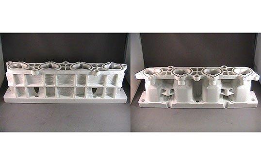 Automotive-Intake-Manifold-FCA-Remove-build-material