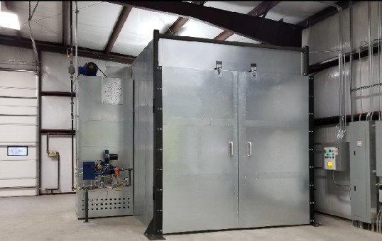 8x8x10 powder coat oven