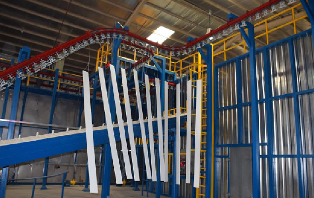 Aluminum Profile Powder Coating Line 4