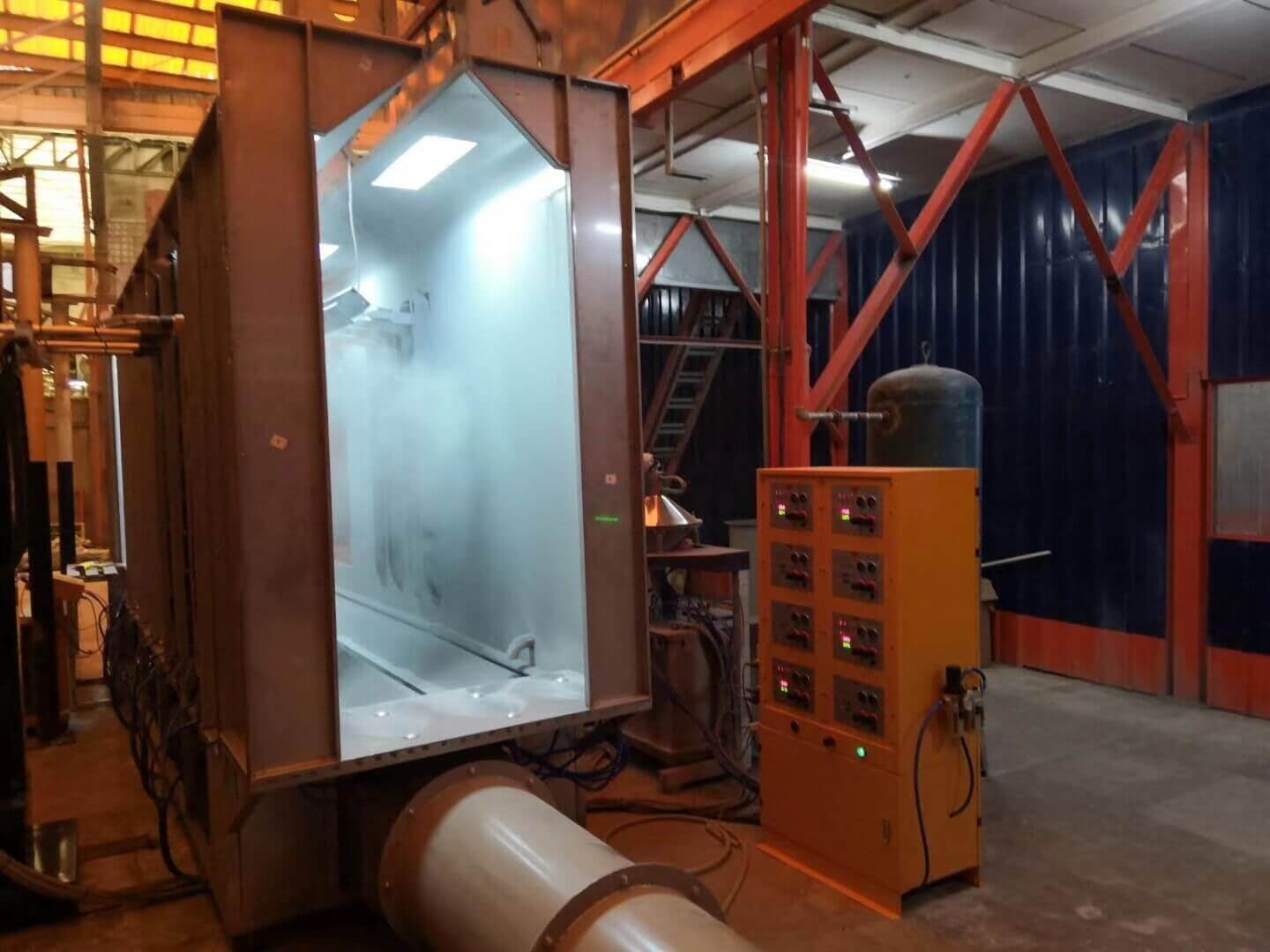Automatic powder coating booth 2