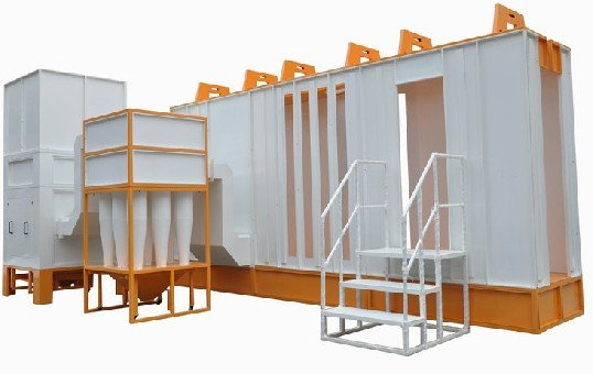 Multi-Cyclone Automatic Powder Coating Booth -KL-S-1