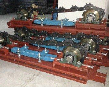 Powder coating conveyor drive unit