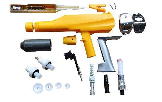 Powder coating gun parts