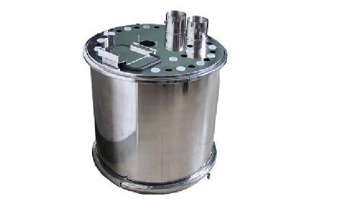 Powder coating machine hopper