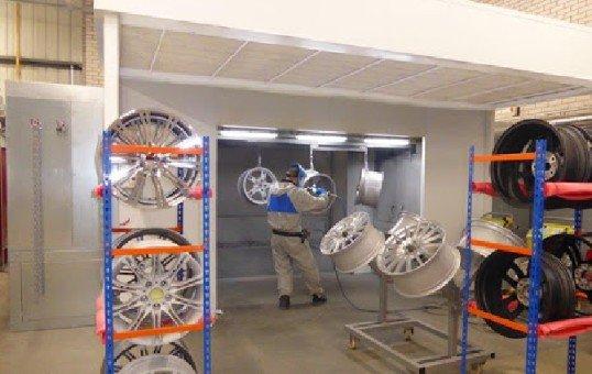 Wheel Powder Coating Booth