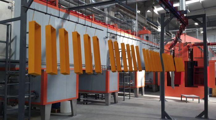 automated powder coating line 5