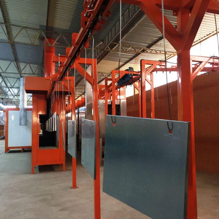 automated powder coating line 6