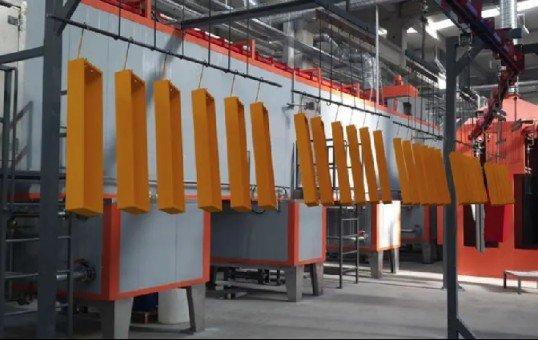 automated powder coating line