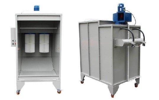cartridge filter powder coating booths