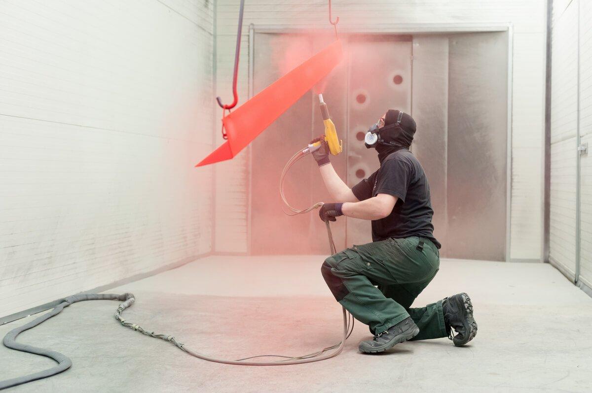 commercialpowder coating process