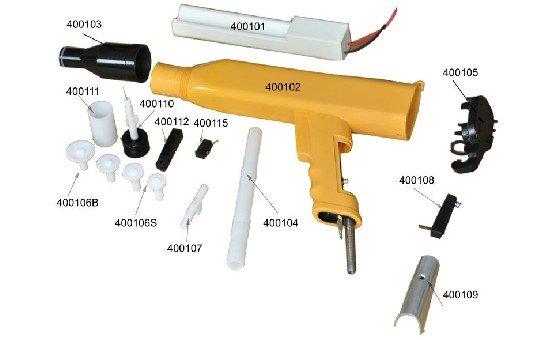 kci powder coating gun parts
