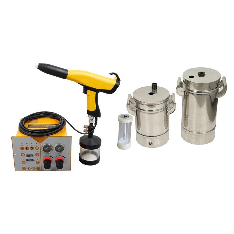 portable powder coating equipment set