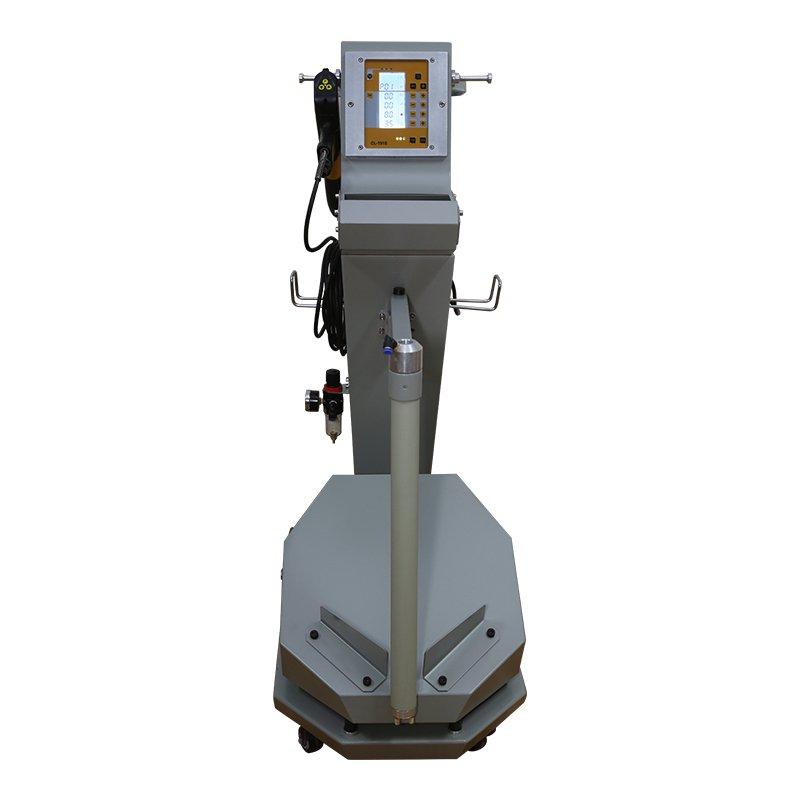 powder coating machine in use