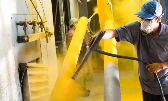 powder coating metal work peices