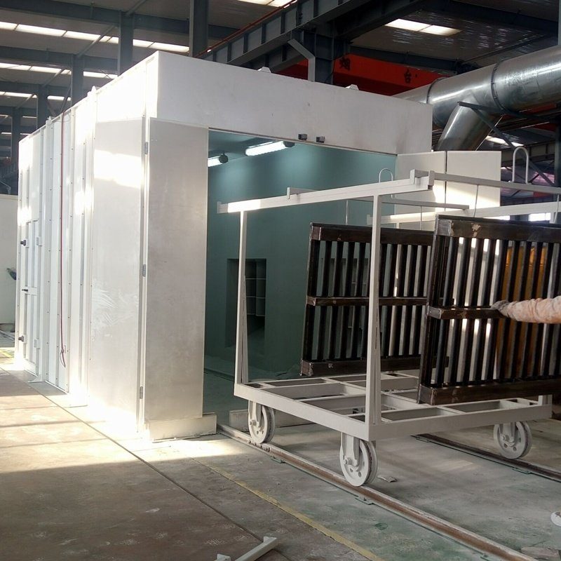powder curing oven inside