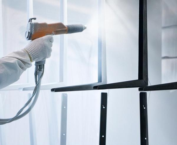 powder spray coating procedure