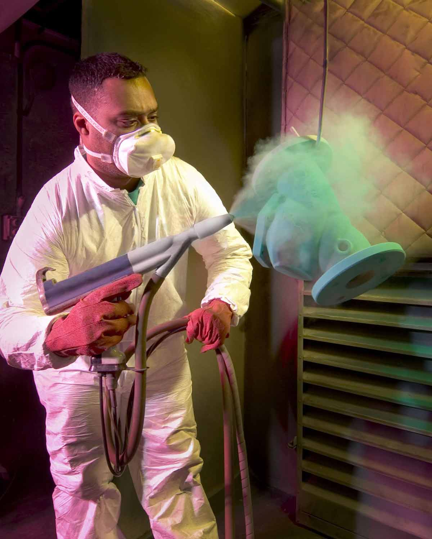 powder spraying