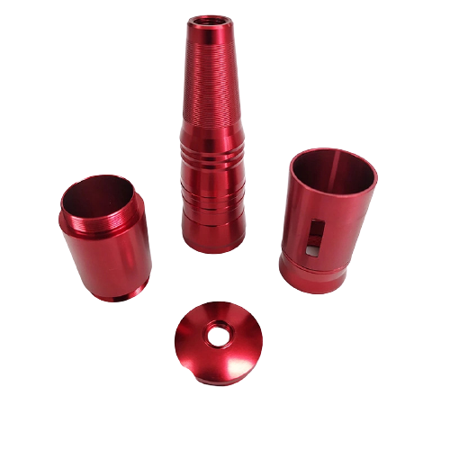 red color powder coated part