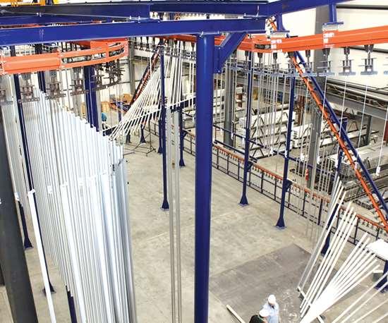 vertical powder coating line 1
