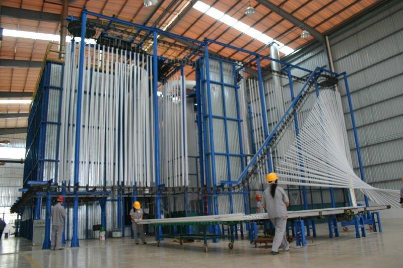 vertical powder coating line 2