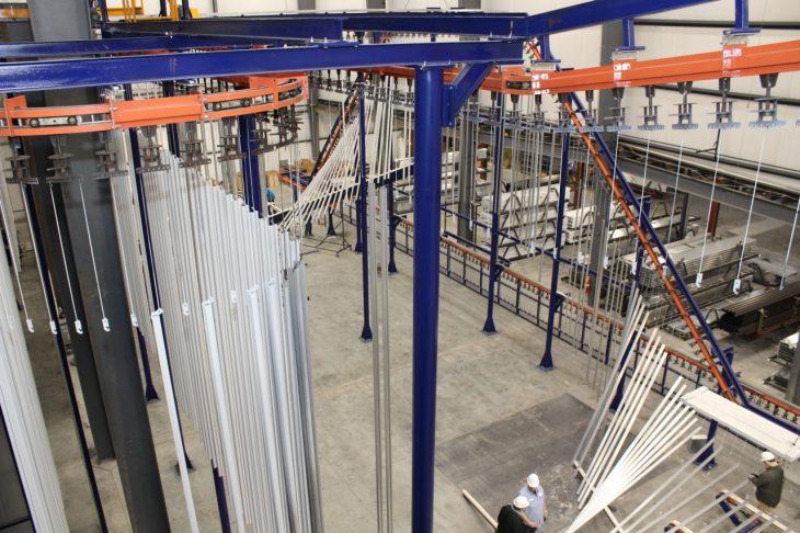 vertical powder coating line 4