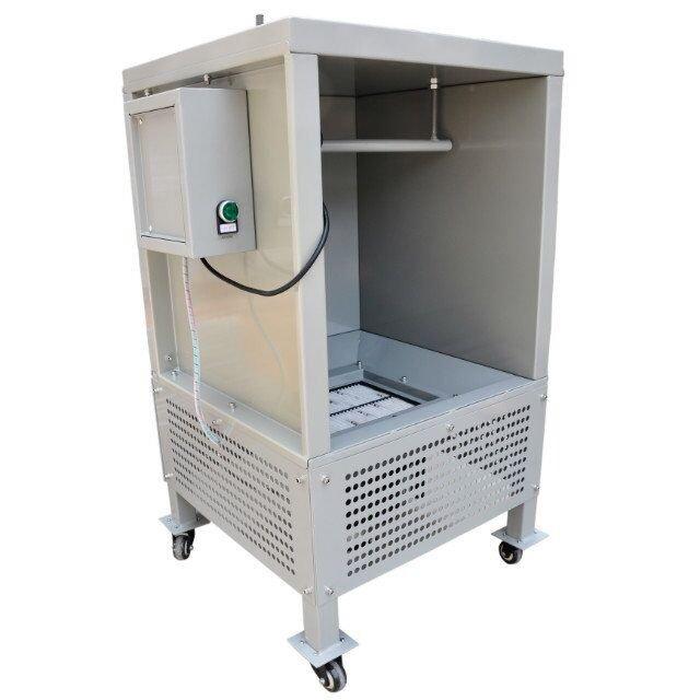portable powder spraying booth 2