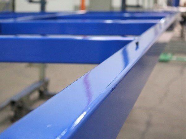 powder coating in blue