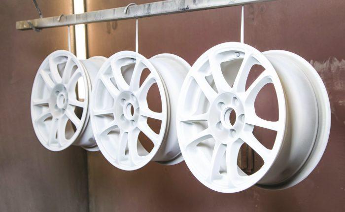 powder coating in wheels
